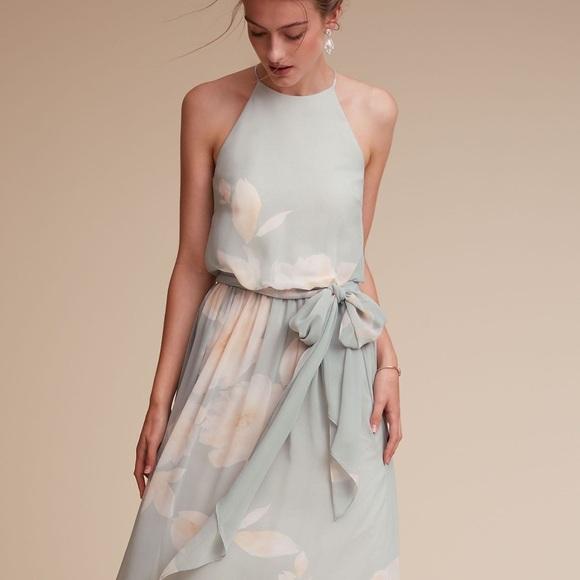 2973f4b75f8 Donna Morgan Dresses   Skirts - Donna Morgan Alana bridesmaid dress green  floral